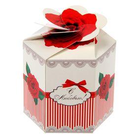 "Коробка складная мини ""С любовью"",8 х 7см"