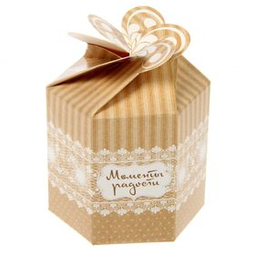 """Коробка складная мини """"Моменты радости"""", кружево ,8 х 7см"""