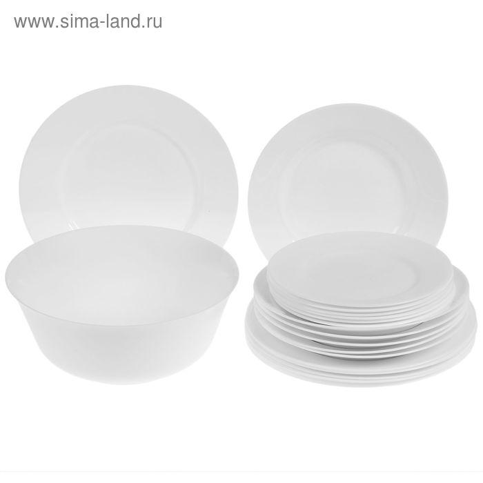 Набор столовый Everyday, 19 предметов: 6 тарелок обеденных d=24 см, 6 тарелок глубоких d=22 см, 6 тарелок десертных d=19 см, салатник d=21 см