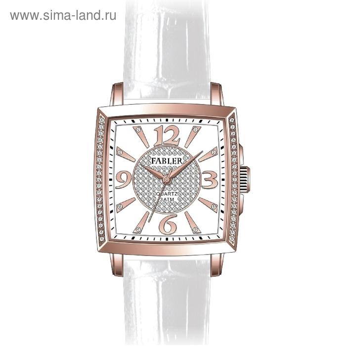 """Часы наручные женские """"Спутник"""", белый циферблат, белый ремешок"""