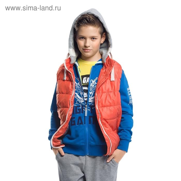 Жилет для мальчика, 9 лет. цвет красный BZVM464