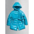 Пальто для девочки, 3 года, цвет лазурный GZFL371/1