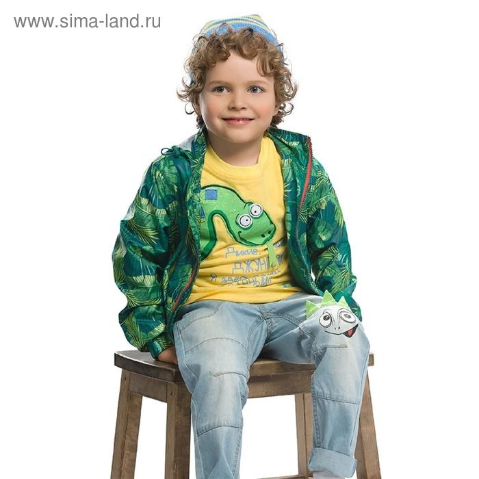 Ветровка для мальчика, 3 года, принт джунгли BZIN366