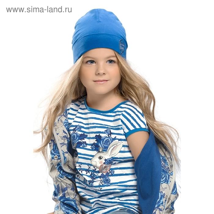Шапка для девочки, размер 50-51, цвет синий GQ385/4