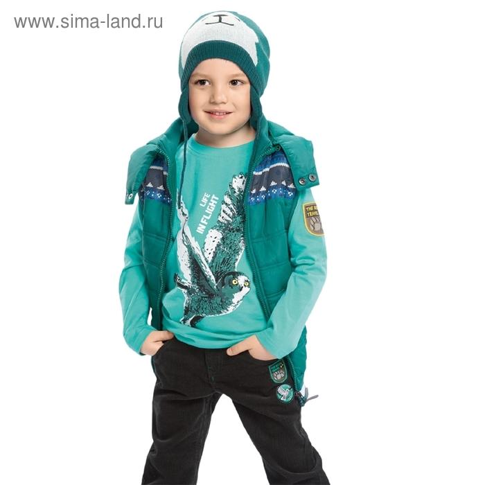Жилет для мальчика, 6 лет, цвет тёмно-зелёный BZVM361