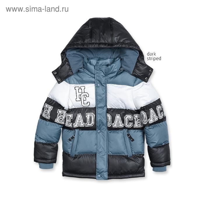 Куртка для мальчика, 4 года, цвет чёрный+серый BZWT360/1