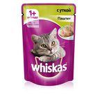 Влажный корм Whiskas для кошек, утка, паштет, пауч, 85 г