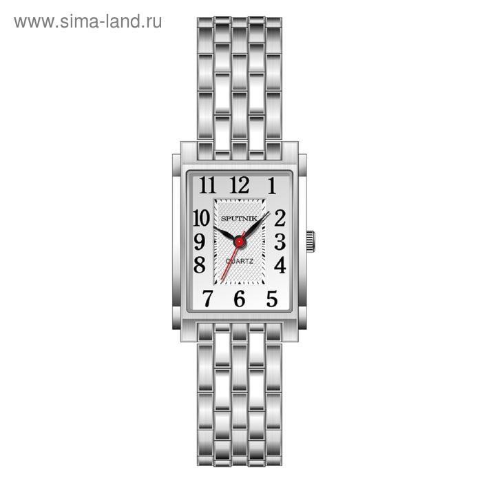"""Часы наручные женские """"Спутник"""", металлический циферблат, металлический браслет"""