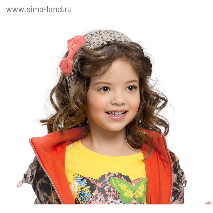 Шапка (повязка) для девочки, размер 48-50, принт леопард GQ388