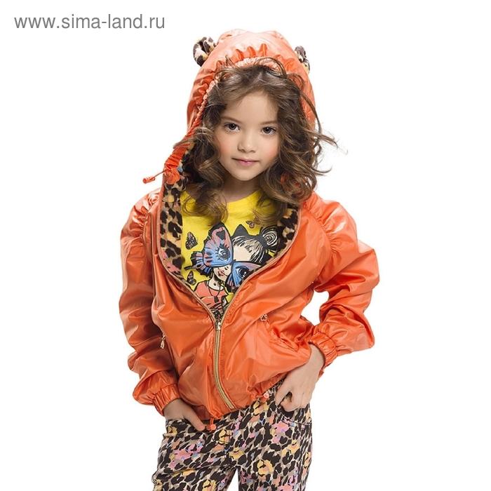 Ветровка для девочки, 6 лет, цвет красный мандарин GZIM388