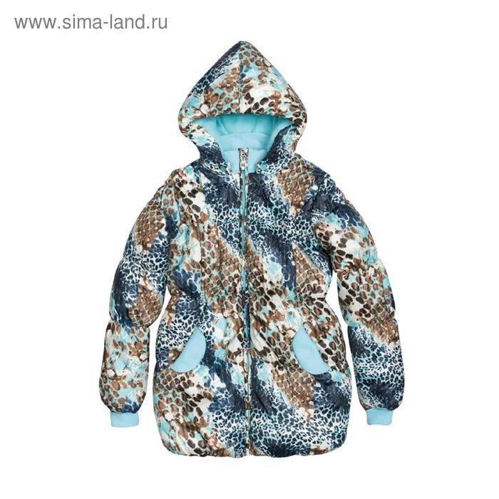 Куртка для девочки, 11 лет, снежный леопард GZWL482/1