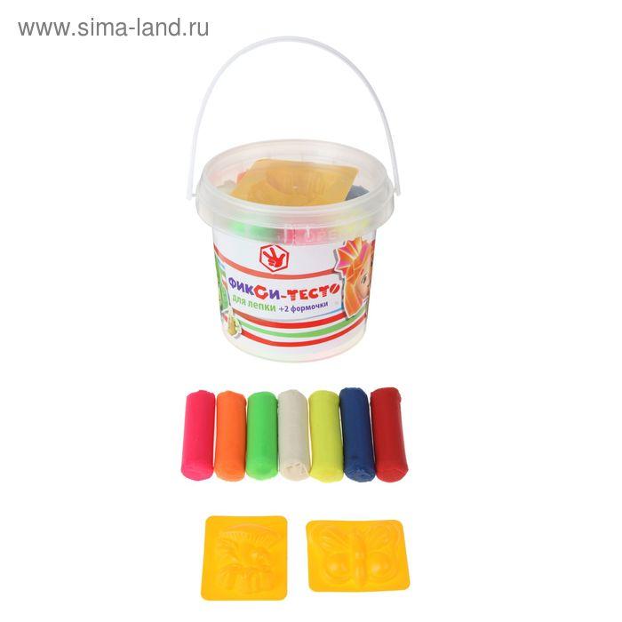 """Тесто для лепки """"Фиксики"""", 7 цветов по 30 г + 2 формочки Centrum"""