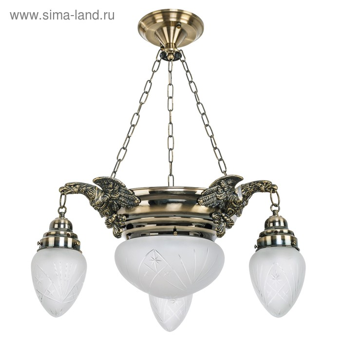 "Люстра классика ""Птица"" 4 лампы 60W Е27 основание античная бронза 50х50х55 см"