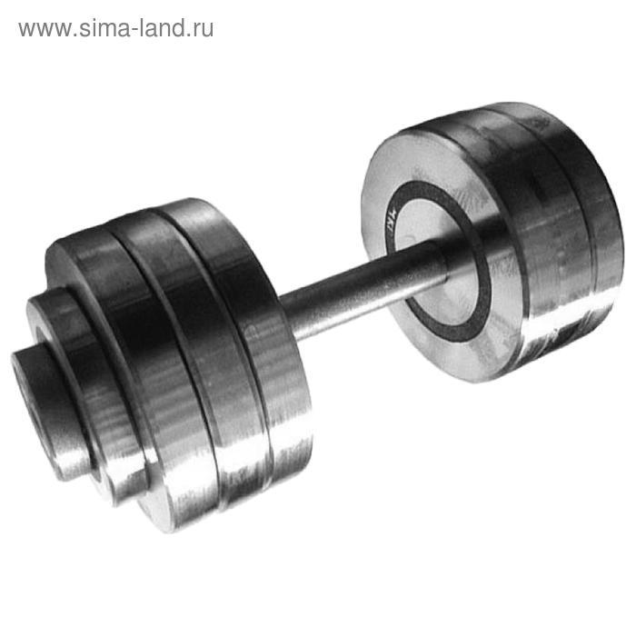 Гантель разборная 25 кг, хромированная сталь