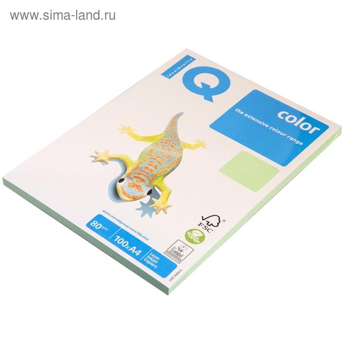 Бумага цветная IQ COLOR Pale (А4,80г,MG28-зеленый) пачка 100л, А+