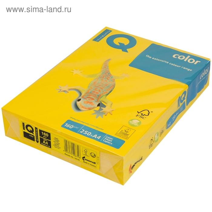 Бумага цветная IQ COLOR Intensive (А4,160г,IG50-горчичный) пачка 250л, А+