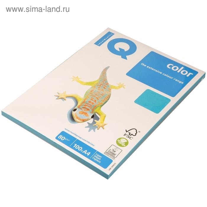 Бумага цветная IQ COLOR Intensive (А4,80г,AB48-светло-синий) пачка 100л, А+