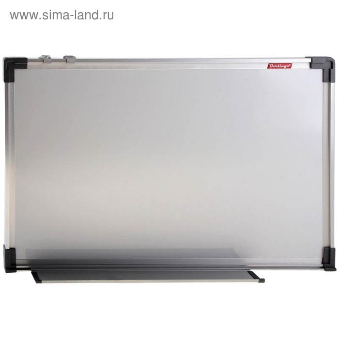 Доска магнитно-маркерная 90*150, алюминиевая рамка, полочка
