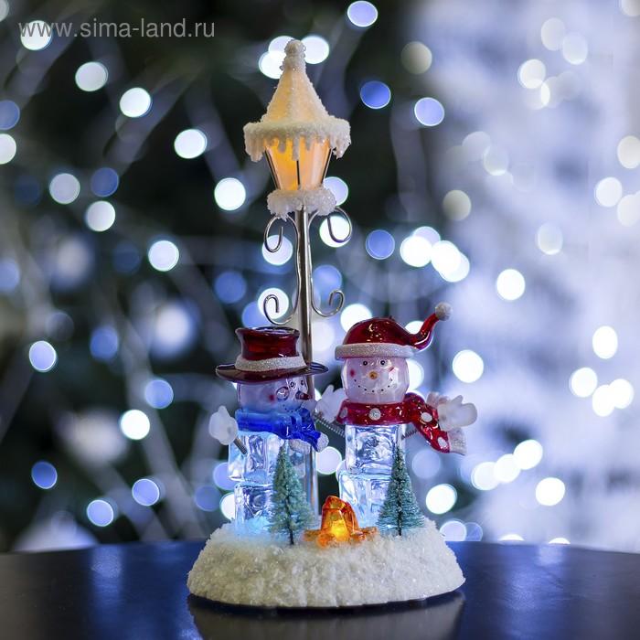 """Игрушка световая """"Фонарь и два снеговика"""" (батарейки не в комплекте) 4 LED"""