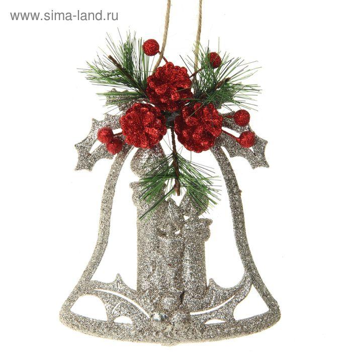 """Подвеска новогодняя """"Колокольчик со свечой"""" 24*17,5 см"""