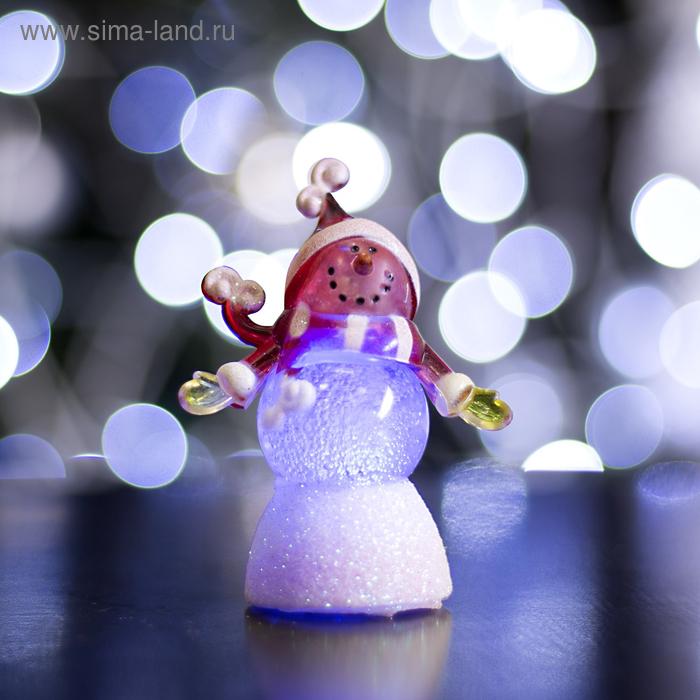 """Игрушка световая """"Снеговик радушный"""" (батарейки в комплекте) 1 LED, RGB"""