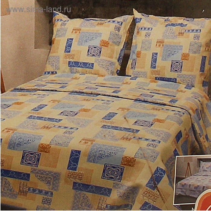 """Постельное бельё 1,5 сп., Фея """"Арабеска"""", цвет голубой 356-1, размер 148х210 см, 150х210 см, 70х70 см - 2 шт., бязь, 105 г/м2"""