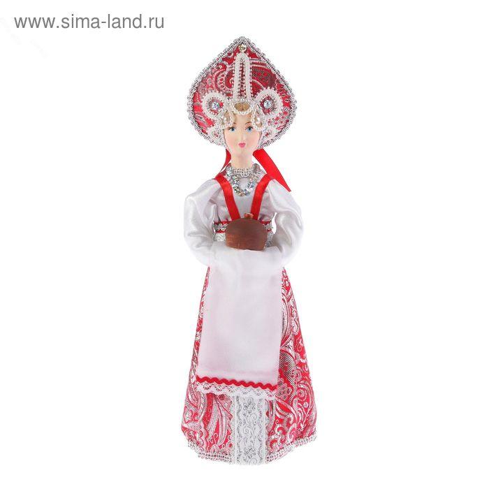 """Авторская сувенирная кукла """"Девушка с куличом"""""""