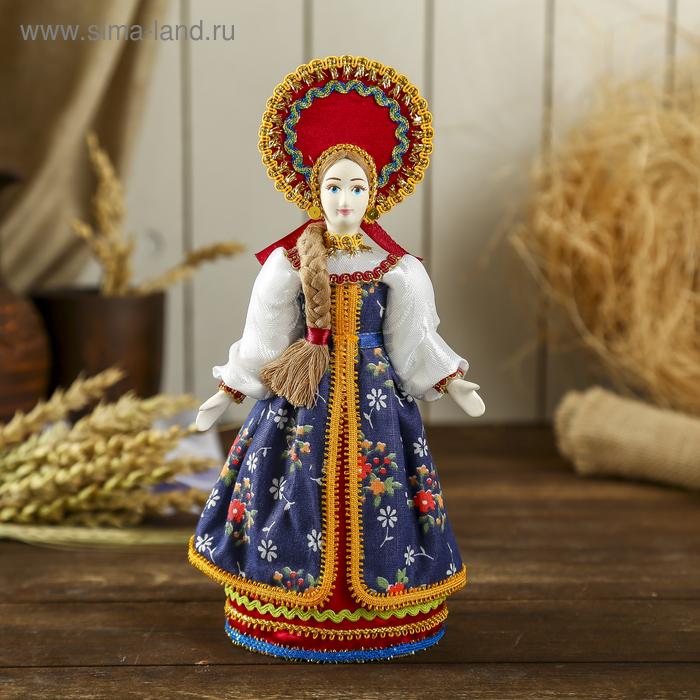 """Авторская сувенирная кукла """"Девица в красном"""""""