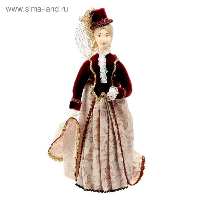 """Авторская сувенирная кукла """"Леди в зимний день"""""""