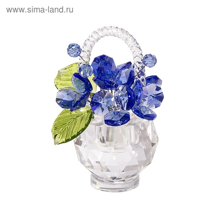 Хрустальные цветы в корзинке №33 LT BL