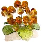 Хрустальные цветы на мраморе №26 TT