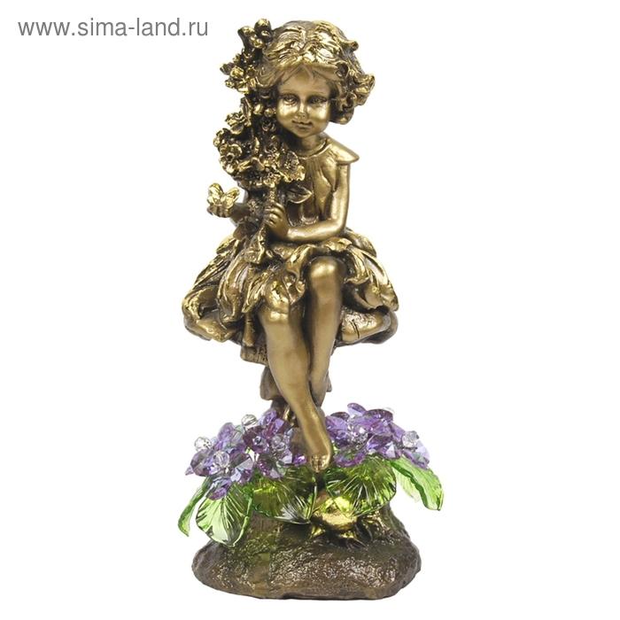 """Статуэтка """"Лесная фея с хрустальными цветами"""" VL"""