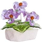 Хрустальные цветы на мраморе №26 VL
