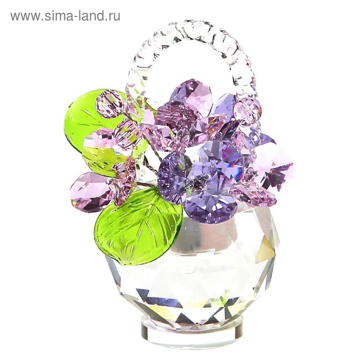 Хрустальные цветы в корзинке №33 RVL