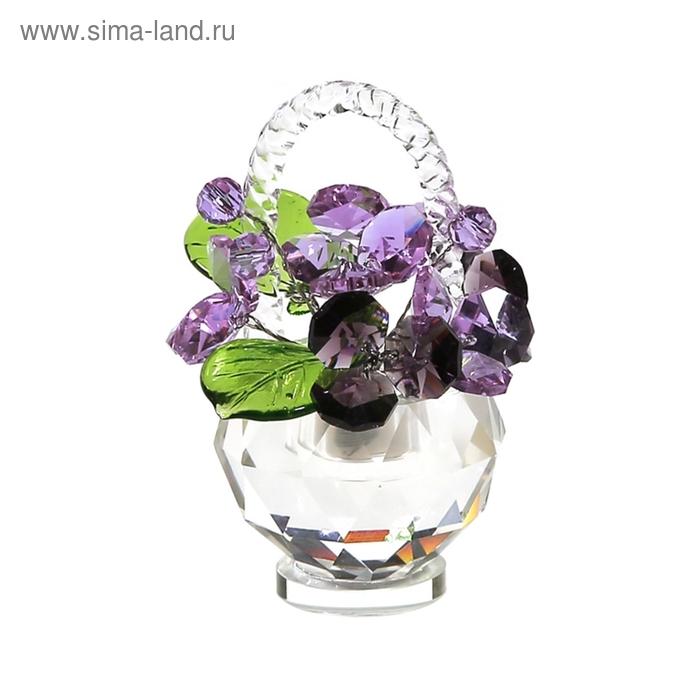 Хрустальные цветы в корзинке №33 VB