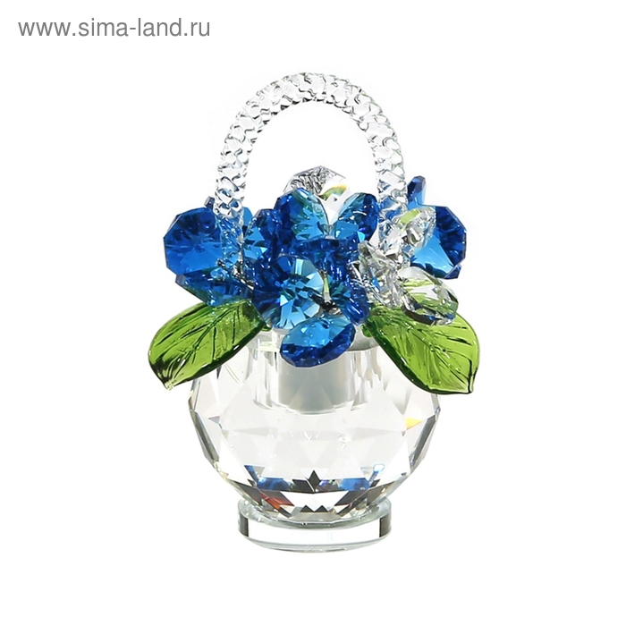 Хрустальные цветы в корзинке №31 AG