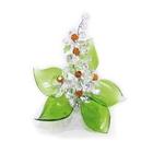 Хрустальные цветы на мраморе №22 CR t