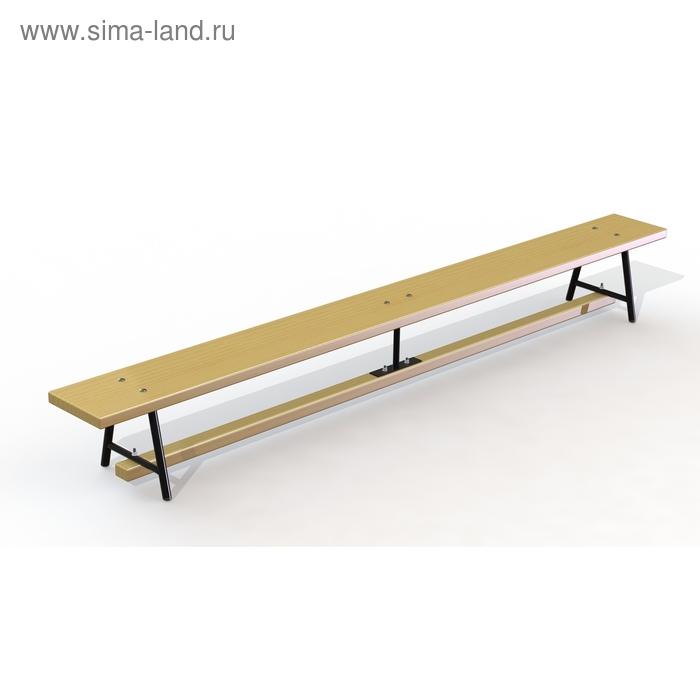 Скамейка гимнастическая 3,5м (мет. ножки) дерево
