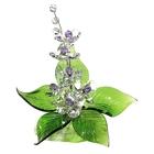 Хрустальные цветы на мраморе №22 CR vl