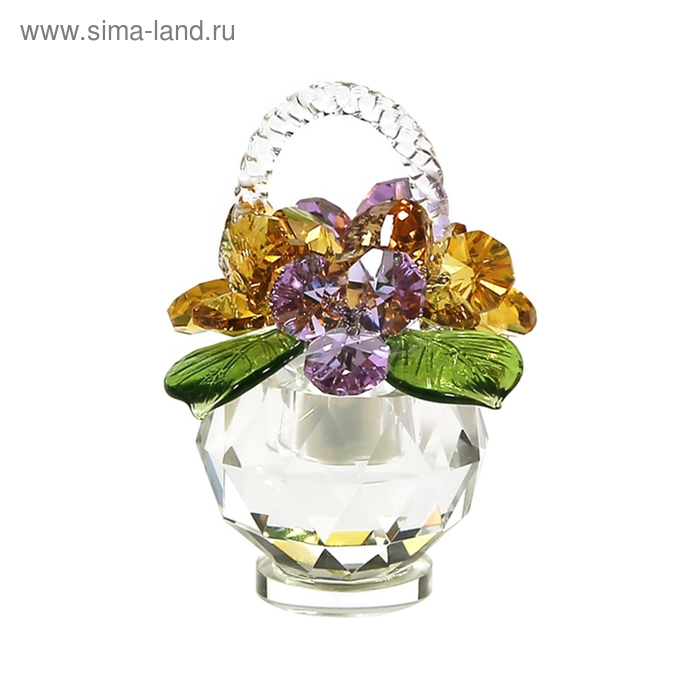Хрустальные цветы в корзинке №31 LTV