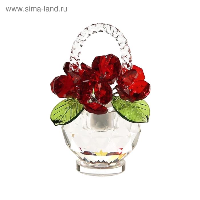 Хрустальные цветы в корзинке №31 RED