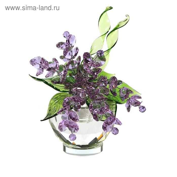 Хрустальные цветы в вазочке №51 VL