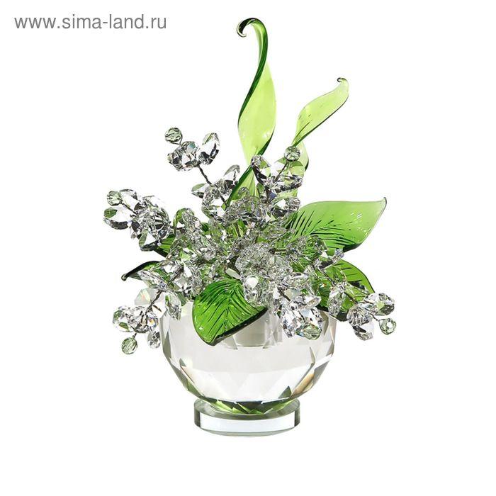 Хрустальные цветы в вазочке №51 CR