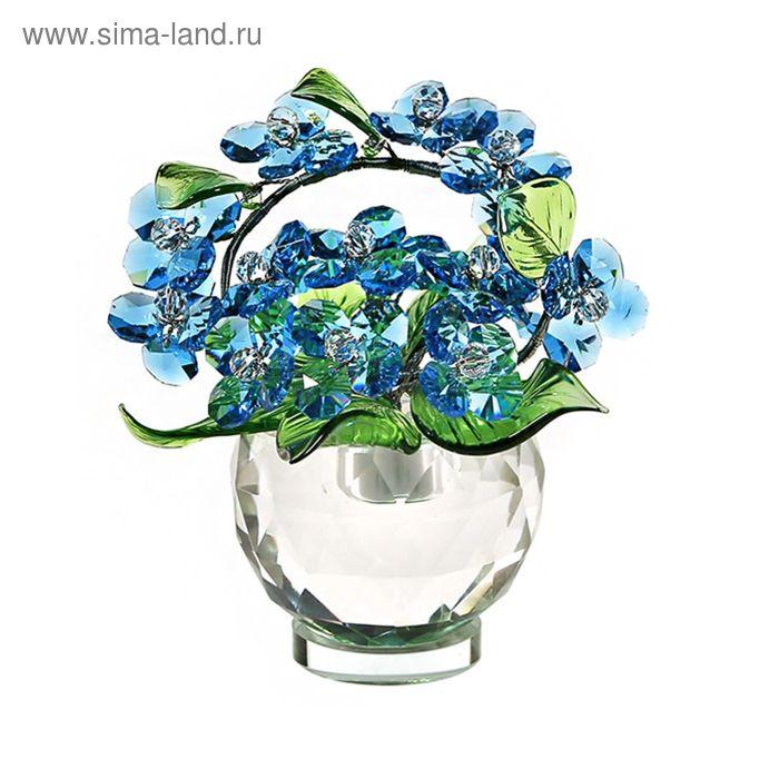 Хрустальные цветы в вазочке №52 Ant Green