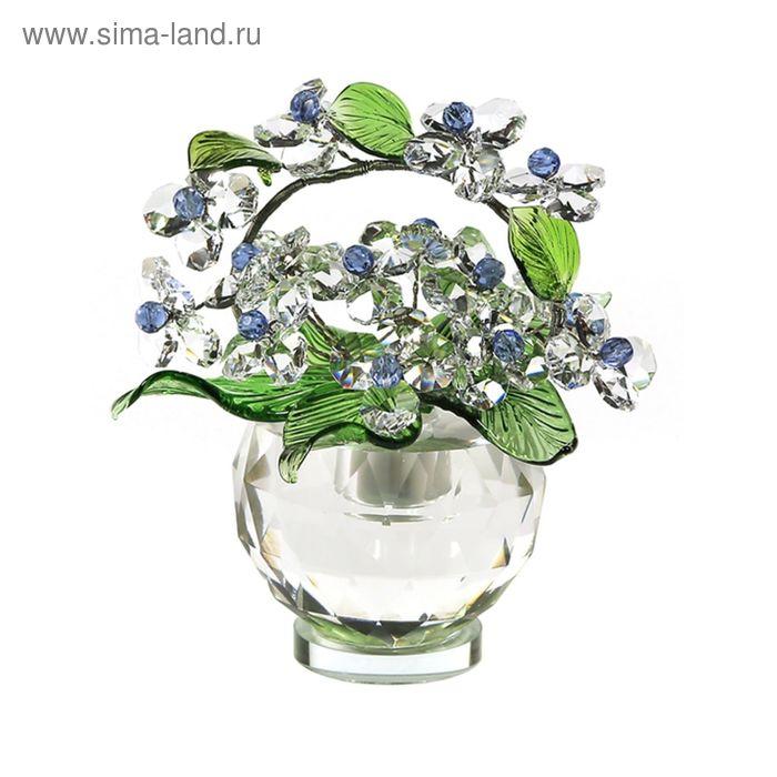 Хрустальные цветы в вазочке №52 CR lb
