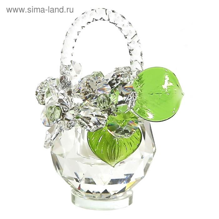 Хрустальные цветы в корзинке №32 CR lp