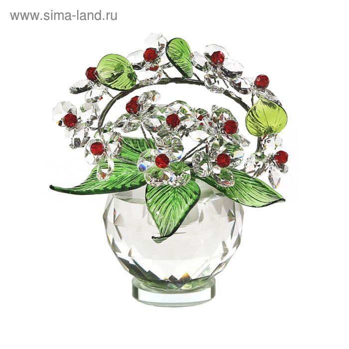 Хрустальные цветы в вазочке №52 CR r