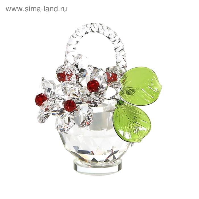 Хрустальные цветы в корзинке №32 CR r