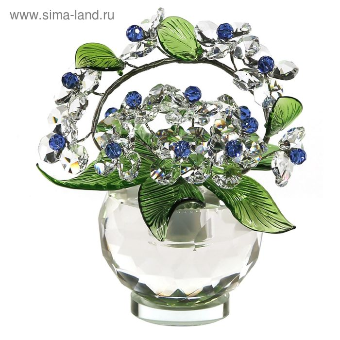 Хрустальные цветы в вазочке №52 CR s