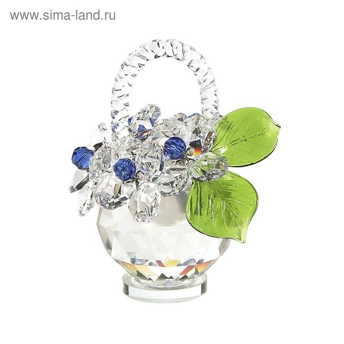 Хрустальные цветы в корзинке №32 Cr s